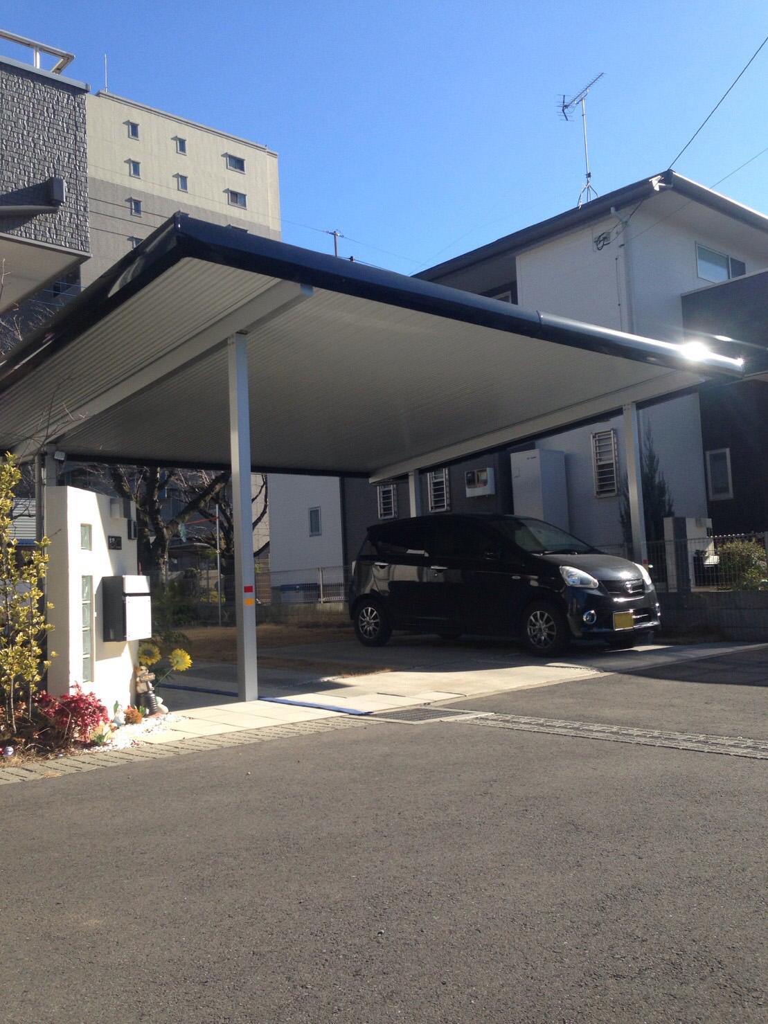 太陽光システム搭載カーポート(真岡市Y様邸)
