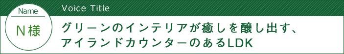 栃木県宇都宮市 - グリーンのインテリアが癒しを醸し出す、アイランドカウンターのあるLDK:中古住宅選びからリフォームまで安心サポート