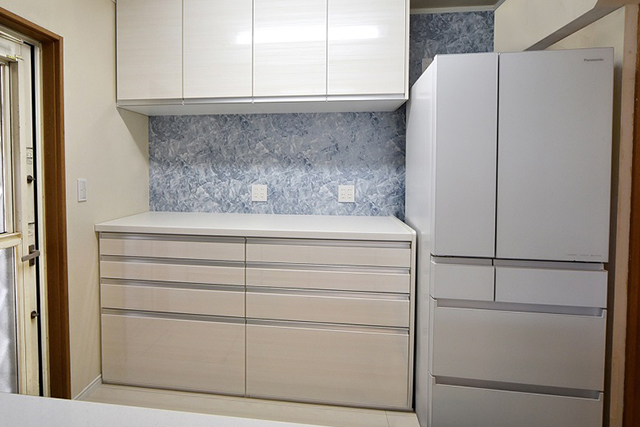 収納力をアップして使いやすいキッチンに:収納力アップ